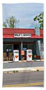 Wallys Service Station Mt. Airy Nc Beach Towel