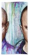 Walter And Jesse - Breaking Bad Beach Towel by Olga Shvartsur