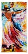 Waltz - Palette Knife Oil Painting On Canvas By Leonid Afremov Beach Towel