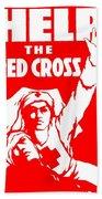 War Poster - Ww1 - Help The Red Cross Beach Towel