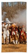 War - Revolutionary War - The Musket Drill Beach Towel by Mike Savad