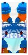 Warhol Firehydrants Beach Towel