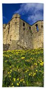 Warkworth Castle In Spring Beach Towel