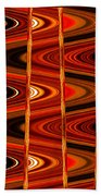 Warm Colors Lines And Swirls Abstract Beach Towel