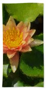 Warm Yellows Oranges And Corals - A Waterlily Impression Beach Towel