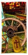 Warrenton Antique Days Wood Wheels And Wonders Beach Towel
