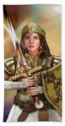 Warrior Bride Of Christ Beach Towel