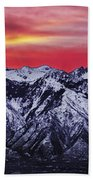 Wasatch Sunrise 3x1 Beach Towel by Chad Dutson