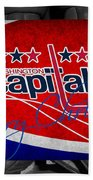 Washington Capitals Christmas Beach Towel