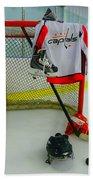 Washington Capitals Home Hockey Jersey Beach Towel