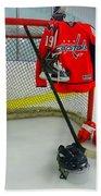 Washington Capitals Nicklas Backstrom Home Hockey Jersey Beach Towel