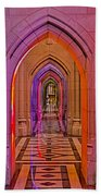 Washington Cathedral Light Show Beach Towel