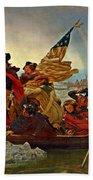 Washington Crossing The Delaware Emanuel Leutze 1851 Beach Towel