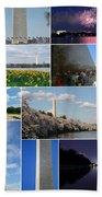 Washington Monument Collage 2 Beach Towel