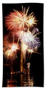 Washington Monument Fireworks 2 Beach Towel by Stuart Litoff