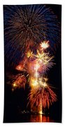 Washington Monument Fireworks 3 Beach Towel by Stuart Litoff