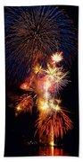 Washington Monument Fireworks 3 Beach Towel