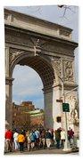 Washington Square Arch New York City Beach Towel