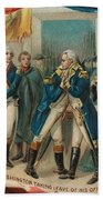 Washington Taking Leave Of His Officers Beach Sheet
