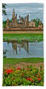 Wat Mahathat In13th Century Sukhothai Historical Park-thailand Beach Towel