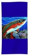 Brook Trout  Beach Towel