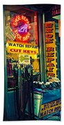 Watch Repair Shop - Keys Made Here Beach Towel