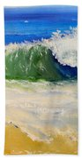 Watching The Wave As Come On The Beach Beach Towel by Pamela  Meredith