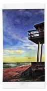 Watchtower On The Beach Beach Towel