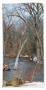 Water And Snow Beach Towel