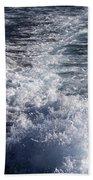 Water Behind A Ship Beach Towel
