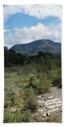 Water-carved Base Rock And Mt Baldy Beach Towel