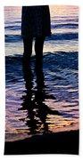 Water Color Echos Beach Towel
