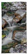 Water Coloured Rocks Beach Sheet
