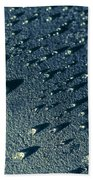 Water Droplets Close-up View  Beach Towel