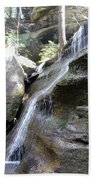 Water Fall In Hocking Hills Beach Towel
