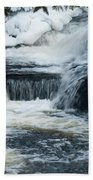 Water Fall On The River Beach Towel