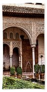 Water Gardens Of The Palace Of Generalife Beach Towel