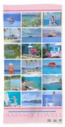 Water Island Poster Beach Towel