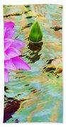 Water Lilies 002 Beach Towel