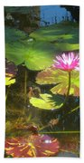 Water Lilly Garden Beach Towel
