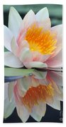 water lily 45 Water Lily with Reflection Beach Towel