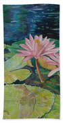 Water Lily In The Morning Beach Towel