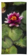 Water Lily Neo Beach Towel