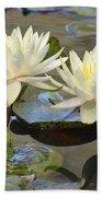Water Lily Pair Beach Towel