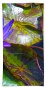 Water Lily Pond Beach Towel