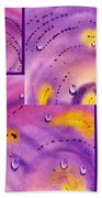 Water On Color Collage Five Beach Towel