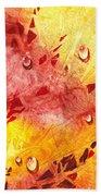 Water On Color Design Nine Beach Towel