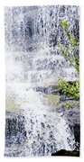 Water Over Rocks At Misty Fjords National Monument-alaska Beach Towel