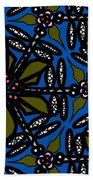 Water Plant And Dragonfly Beach Towel