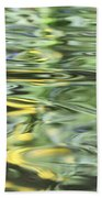 Water Reflection Green And Yellow Beach Towel